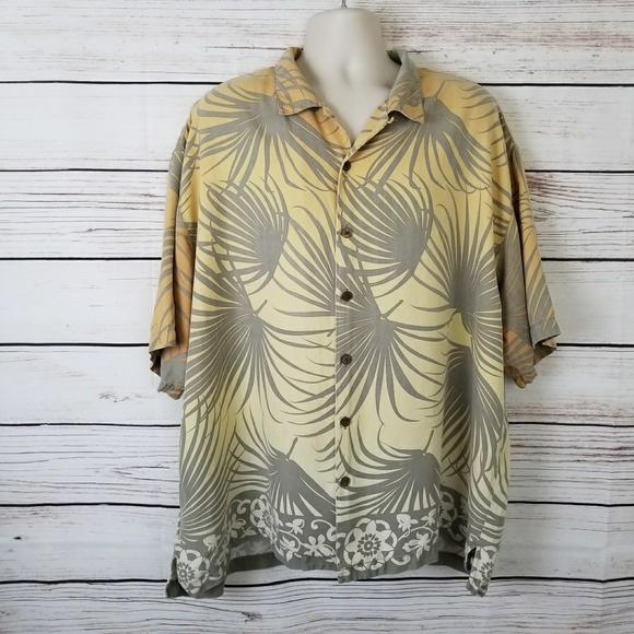 Tommy Bahama Other - Tommy Bahama Silk Palm Leaves Hawaiian Shirt